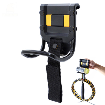 Młotek stalowy uchwyt narzędziowy 100*75mm młotek do przechowywania pętli Rack torba na narzędzia elektryczne pasuje do 0-60mm pas narzędziowy do przewodu zasilającego Mgmt tanie i dobre opinie STEEL Nail młotek HARK CAPUT 01052A Antymagnetyczna Hammer Holder 158g Steel ABS 0-60mm Tool Belt Construction Tools
