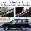 Для Toyota Prado 2014 накладные автомобильные Внешние аксессуары оконные декоративные полосы из нержавеющей стали
