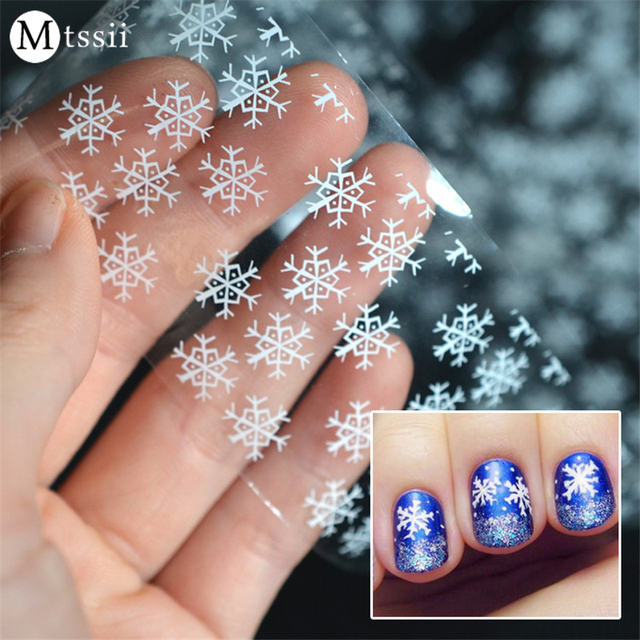 Aliexpress buy 4120cm mtssii white snow nail art transfer 4120cm mtssii white snow nail art transfer foils colorful full wrap nail sticker decal prinsesfo Gallery