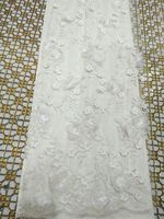 3d flower fabric high quality 3d lace fabric with beads african 3d fabrics with sequins french tulle sequin lace fabric