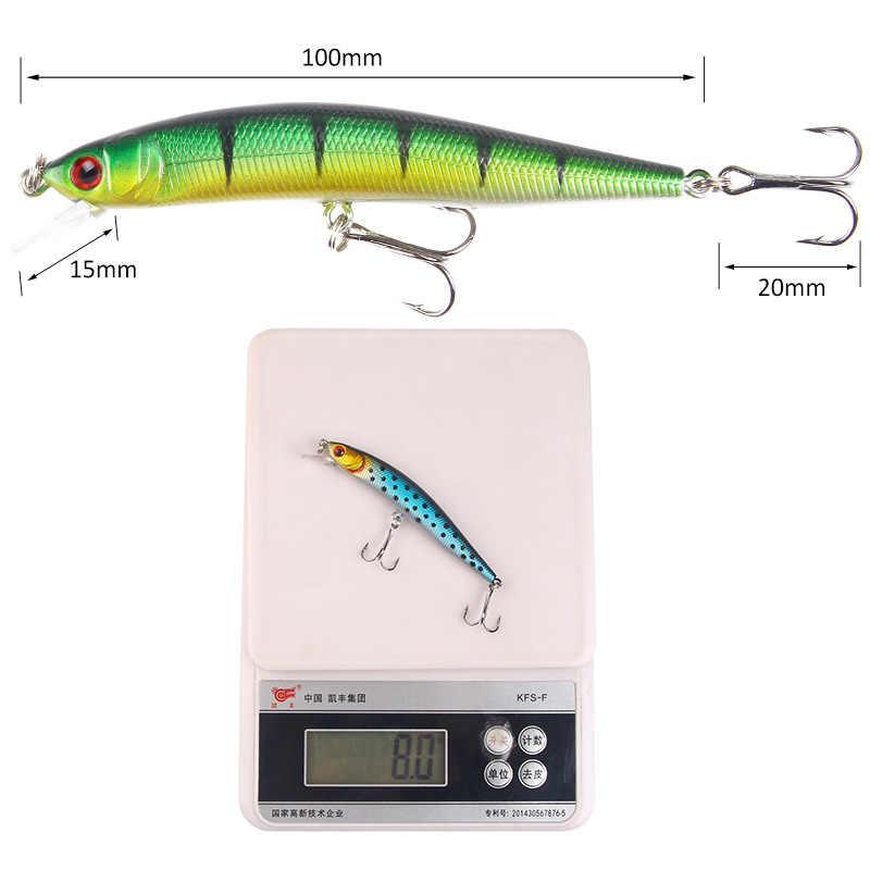 1 قطعة الصيد السحر المتذبذب البلمة 10 سنتيمتر 8 جرام الثابت الاصطناعي الطعم عيون ثلاثية الأبعاد 5 ألوان السحر نهر الصيد معالجة