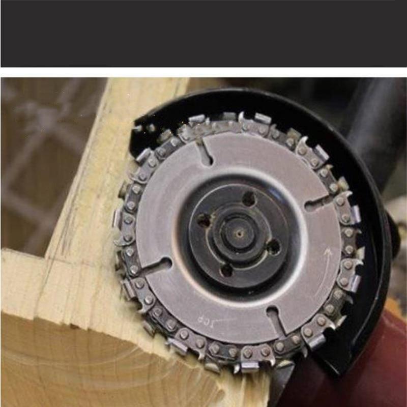 """Резьба по дереву угол диска, услуги шлифовки угла заточки с 4"""" и 22 зуба цепь деревообрабатывающей цепной плиты пилы для резки диск лист"""