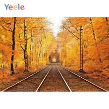 Yeele Autumn Forest Rail Road Track Scenery Wedding Personalized Photography Backdrops Photographic Backgrounds For Photo Studio