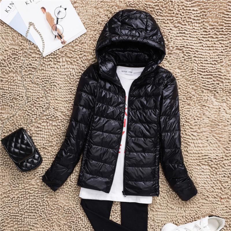 Plus Size S-7XL 90% White Duck Down Jacket Women Winter Women's Overcoat Female Ultra Light Autumn Hooded Down Coat Jackets 2018 3