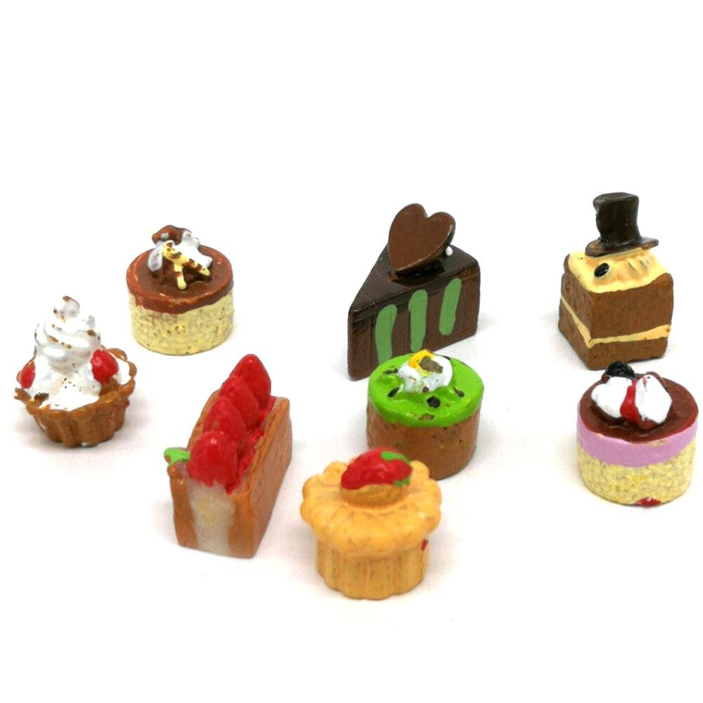 2X Miniature Artificial Strawberry Resin Cake Dolls House Miniature Food 1//12 Al