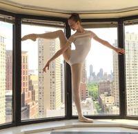 Adult Ballet Dance Jumpsuit Short Sleeve Girls Tank Leotard Padded Jumpsuit O Neck Women Black Purple Ballet Dancewear D 0618