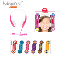 ONANOFF Standard Buddyphones Kids Professional Safe Listening Headphones With Sharing Cable Cute Children Mini Over Ear