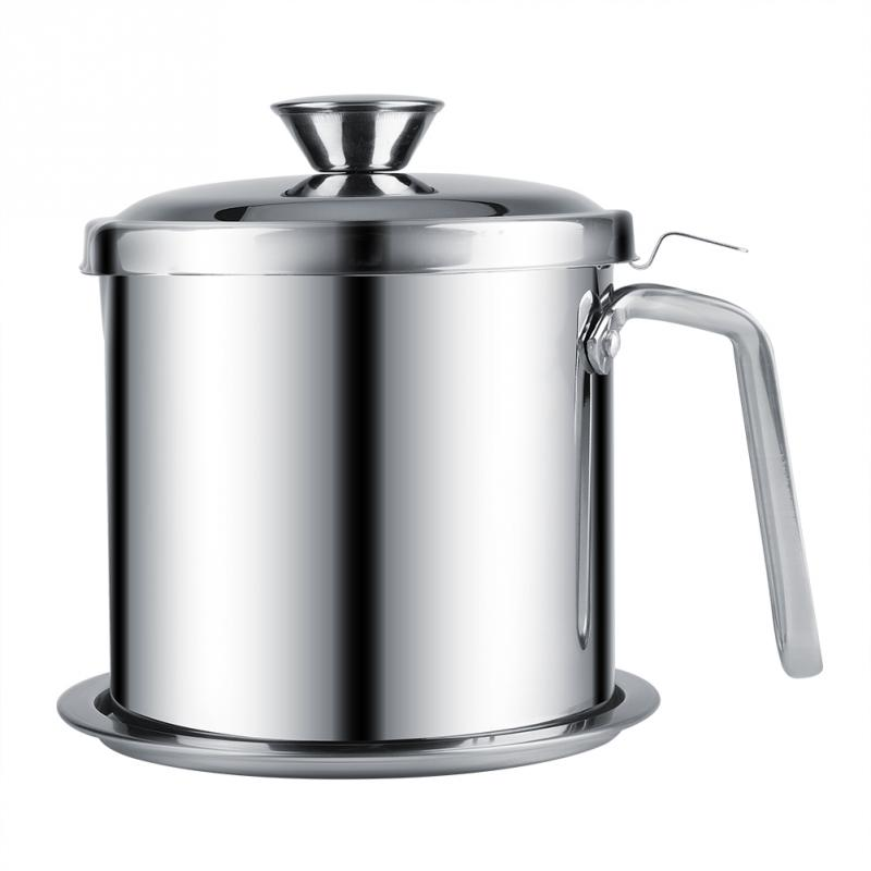 Stainless Steel Portable Filter Oil Soy Milk Juice Can