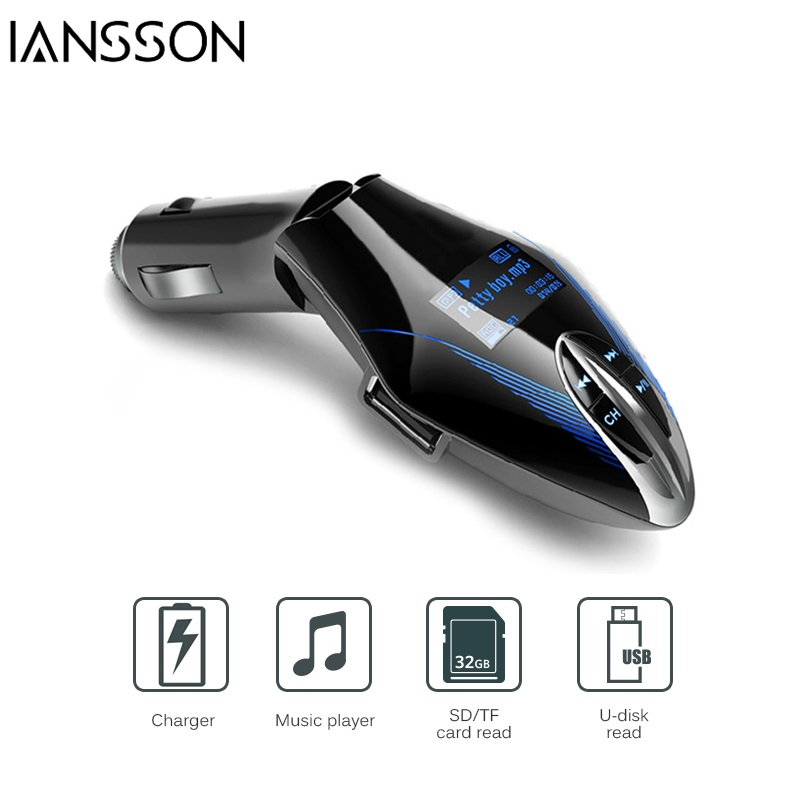 Car MP3 Player Car Styling Audio Kit Wireless FM Transmitter Radio Modulator USD SD Music Player with Remote Control