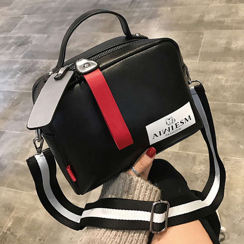 Hot Sale Fashion Handbags Bags For Women Double Zipper Women Messenger Bags Wide Strap Patchwor Tote Bags Bolsa Mujer