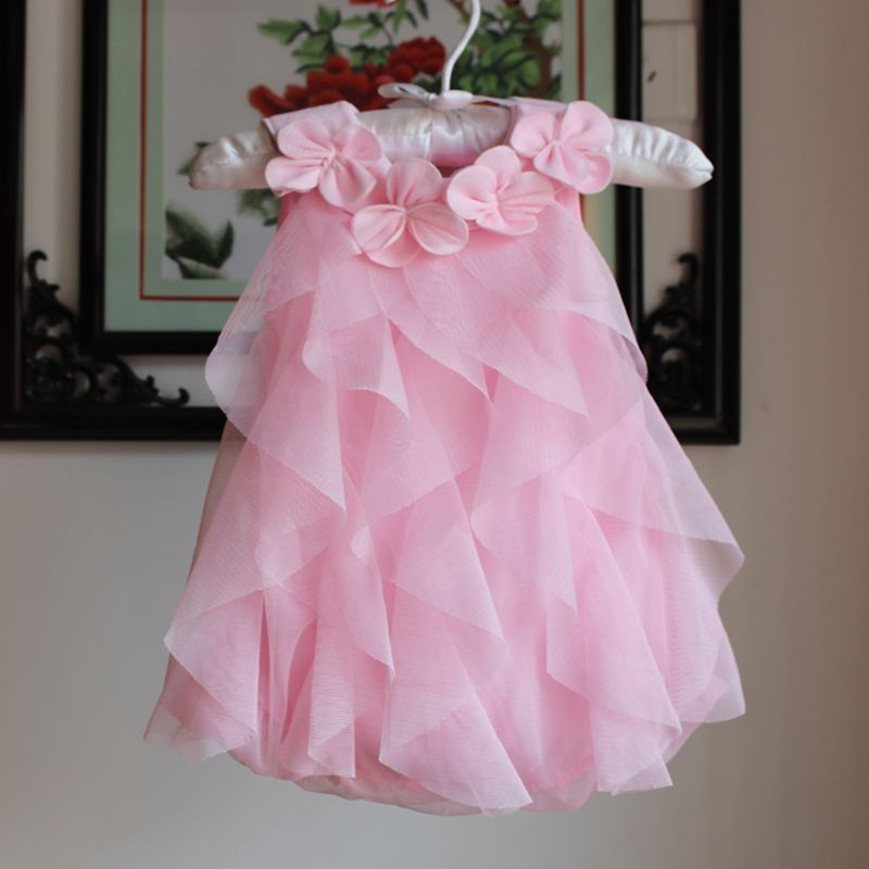 Girls Dress 2017 Summer Chiffon Party Dress Infant 1 Year Birthday Dress Baby Girl Clothes Dresses & Headband Vestidos 5