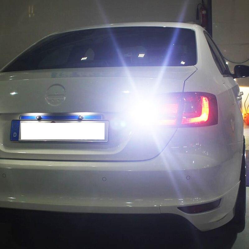 2 шт. W16W T15 светодиодный лампы заднего хода Canbus ОВС ошибок автоматического резервного копирования свет сигнала поворота тормозной фонарь бе...