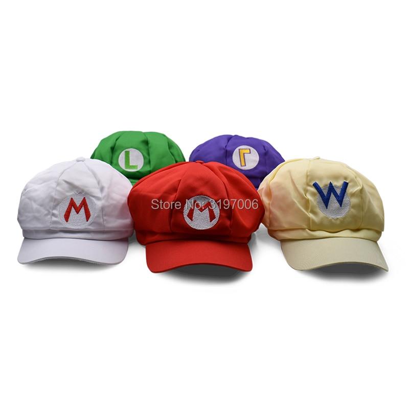 ec08a9fdcacbd3 Size: Inner circumference 58-60cm Hat 7cm. 6Pcs/Set 3-7cm Super Mario Bros  PVC Action Figure Toys Dolls Mario Luigi ...