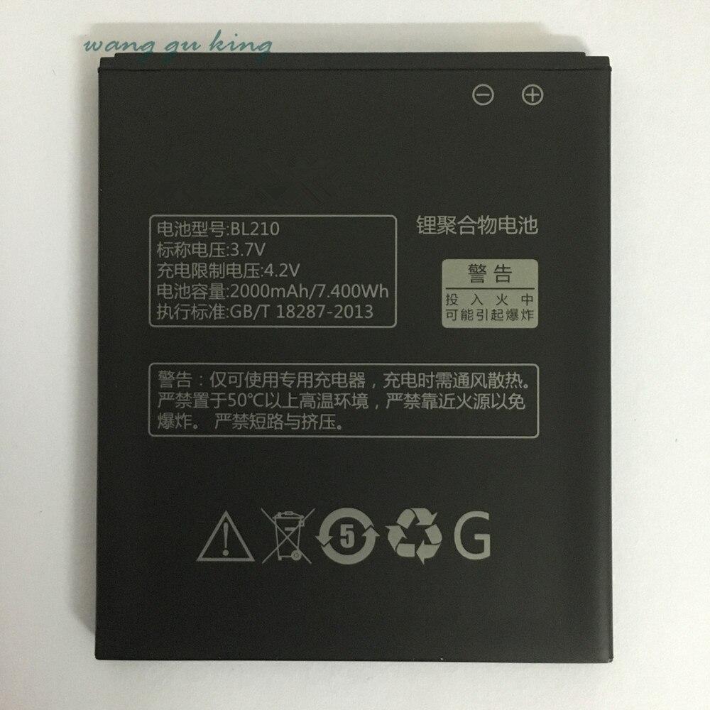 2000mAh BL210 Li-ion Phone <font><b>Battery</b></font> for <font><b>Lenovo</b></font> <font><b>A536</b></font> A606 A656 A658T A750E A766 A770E A828T S650 S820 S820