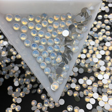 Good Quality White Opal DIY Strass Crystal ss3-ss34 Non HotFix Nail Art Flatback Rhinestones for Clothes Decorations