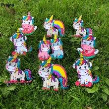 Prajna Hippie unicornio parches de hierro en unicornio mágico accesorios parches bordados para ropa apliques niños vestido camisetas DIY