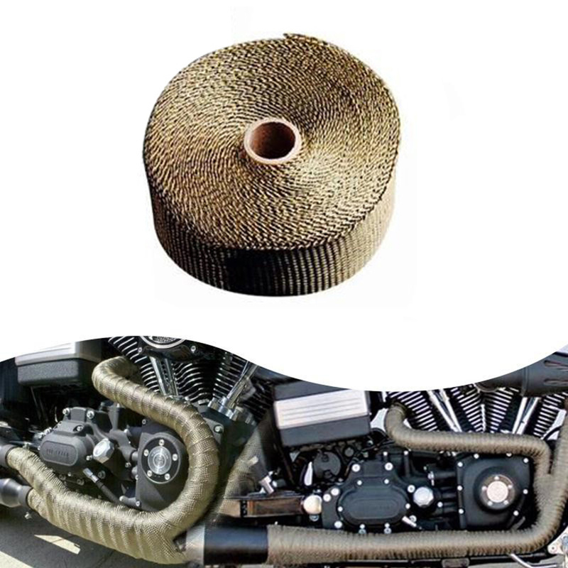 Ties-Tape Motorcycle-Accessories Heat-Wrap Exhaust-Pipe Turbo Stainless Manifold-Incombustible title=