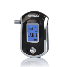 2016 NEW Hot selling fashion Professional Mini Police Digital LCD Breath Alcohol Tester Breathalyzer AT6000 Free shipping
