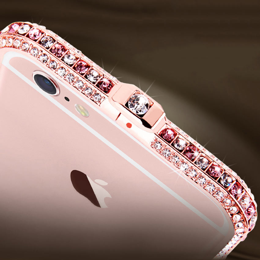 Slim Zinc Alloy Metal Color Diamond Bumper Coque Case για Apple - Ανταλλακτικά και αξεσουάρ κινητών τηλεφώνων
