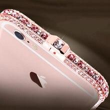 Тонкий цинковый сплав металл цвет алмаз бампер Coque чехол для Apple iPhone 6 6S плюс я телефон Элитный бренд Защитная крышка capinha