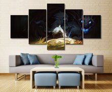 5 Pieces Home Decoration Living Room Canvas Painting Art Decorative League of Legends Game Wall