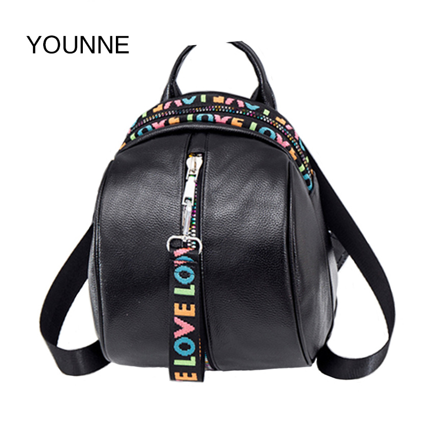 YOUNNE Women Fashion Backpack for Girl Female Daily Solid Color Shoulder Bags Lady Zipper Bags Casual Rivet Backpack School Bags