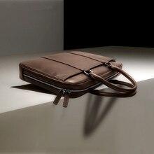 2017 Brand Genuine Leather Bag Men Designer Handbags High Quality Shoulder Bags Versatile Vintage Messenger Business Laptop Bag