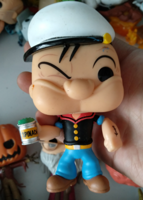 Funko POP Secondhand Cartoon Popeye Vinyl Action Figure Pop Eye Collectible Model Loose Toy Cheap No Box