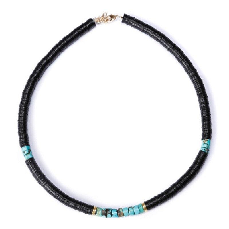 Boho bohème Ras de Cou désert Dore Blanc Noir coquille naturelle colliers de perles de mode collier Ras du Cou perle kolye femmes colar