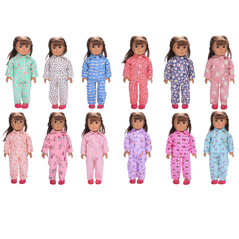 18 Inch Doll Accessories Casual Baby Girl Doll Clothing Set Dolls Pajamas Sleepwear / Swimsuit / Backpacks For Girls Gift