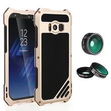 Высокое качество с HD объектив Металл Телефонные Чехлы Водонепроницаемый пыле антидетонационных Защитная крышка для Samsung Galaxy S8 плюс S8 случае