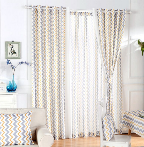 Kitchen Curtains Drapes Modern Elegant Living Room Blue Window - Home Textile - Photo 3