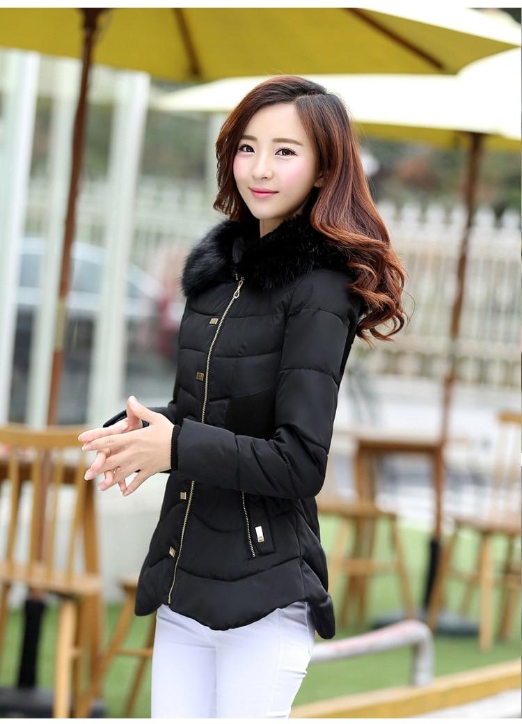 AS33 Winter Jacket Women 2018 New Ladies Coats Womens Winter Jacket Down Cotton Jacket Slim Parkas