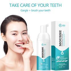 Очищающий мусс для зубов свежее дыхание отбеливание зубов удаление вмятин и дымовых зубов черные зубы очищающее средство для рта зуб