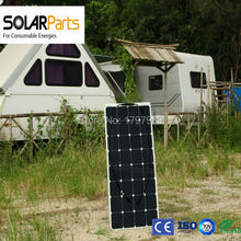 Solarparts 1x100W PV flexible solar panel module powered fishing boats 12V battery solar charger fence TV