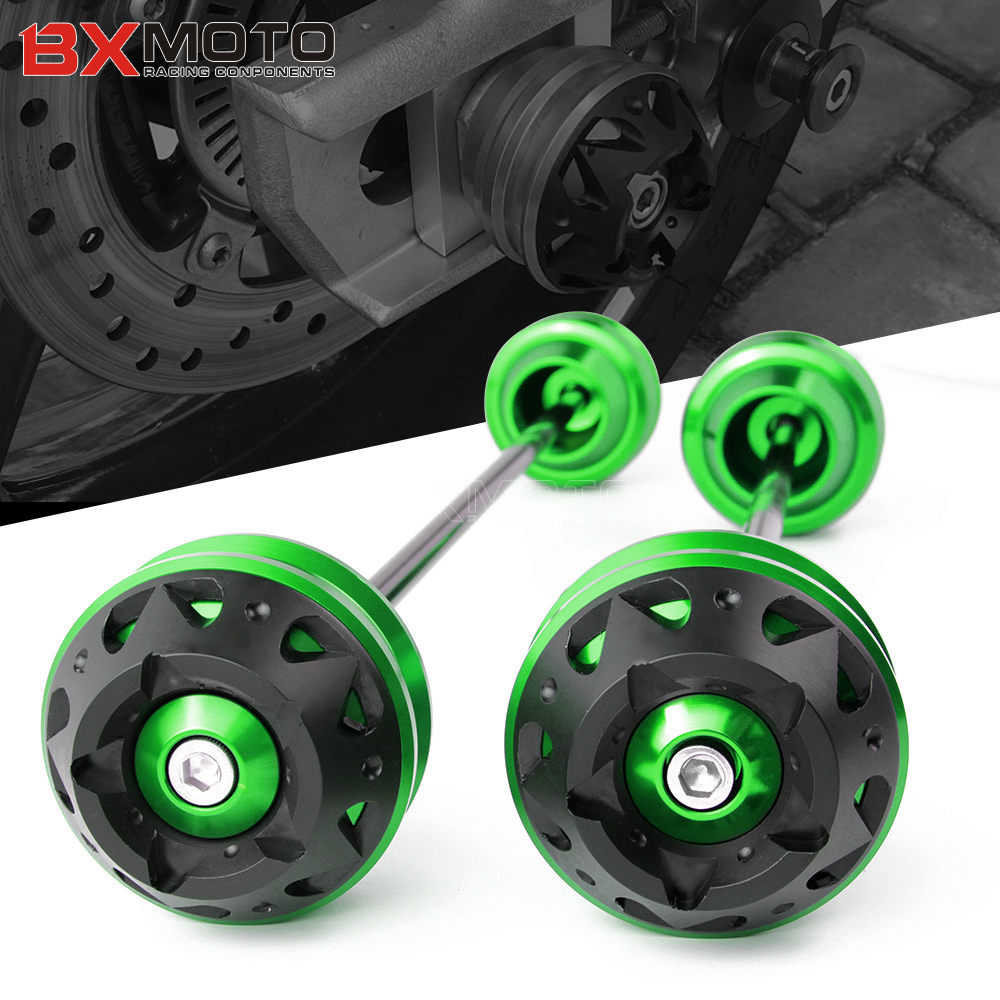 For Kawasaki ZX 10R 2008 2016 ZX 6R 2008 2016 Motorcycle Front Rear CNC Wheel Axle