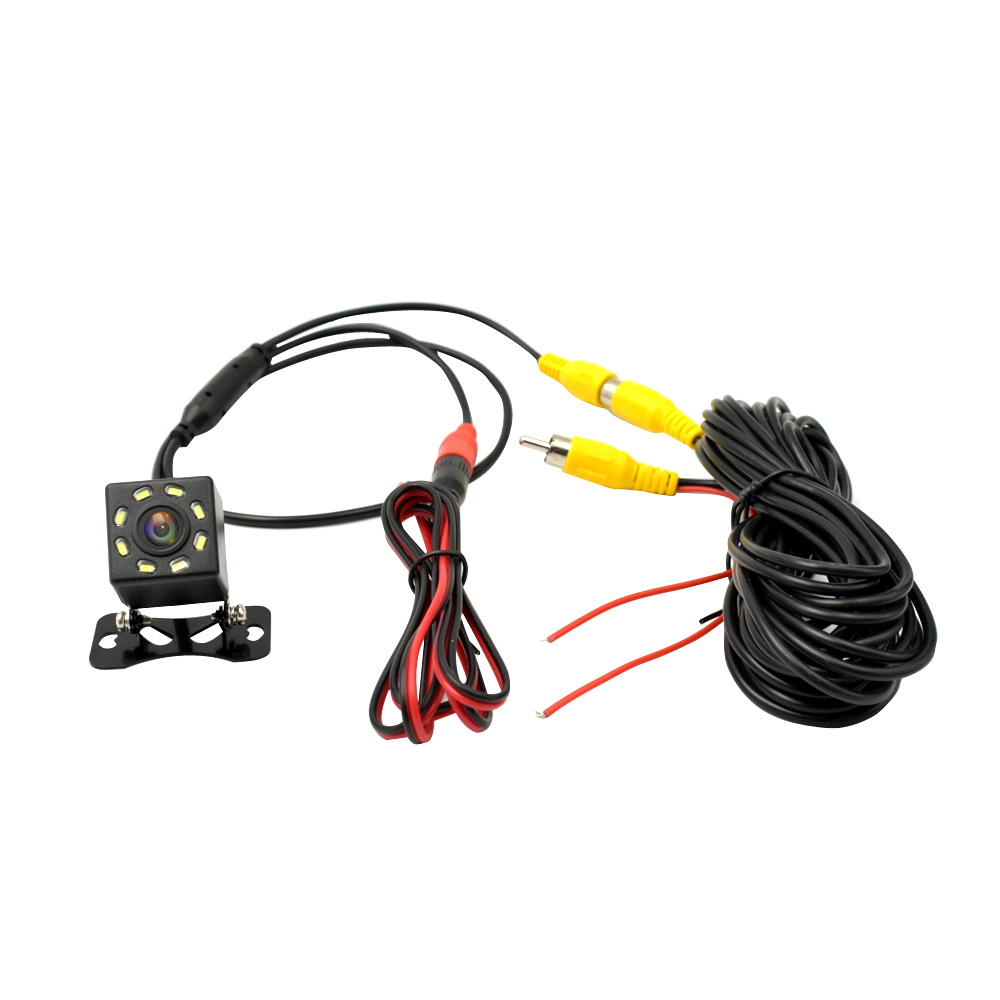 REDPRO 120° Wide Angle Car View Camera Universal 8 LED Waterproof HD Color Image Camera For DVD Reverse Backup Parking Camera in Vehicle Camera from Automobiles Motorcycles