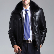 Free shipping 2014 New arrival winter Men brand sheepskin leather clothing Men's fur coat , winter leather jacket M-XXXL