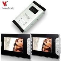 Yobang Sicherheit Video Intercom Entry System 2 stücke 7 zoll LCD Verdrahtete 1 Türklingel Kamera mit 2 taste 2 Monitor wasserdicht-in Videosprechanlage aus Sicherheit und Schutz bei