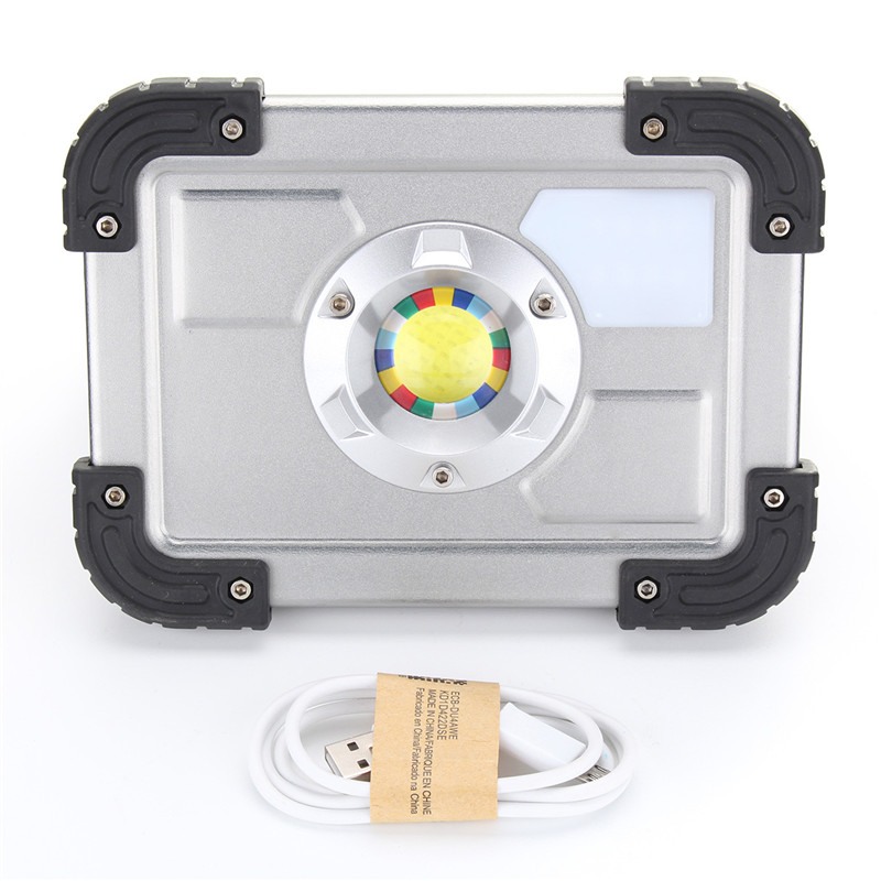 30W Rechargeable COB LED Portable LED Flood Light LED Spotlight Work Camping Outdoor Law ...