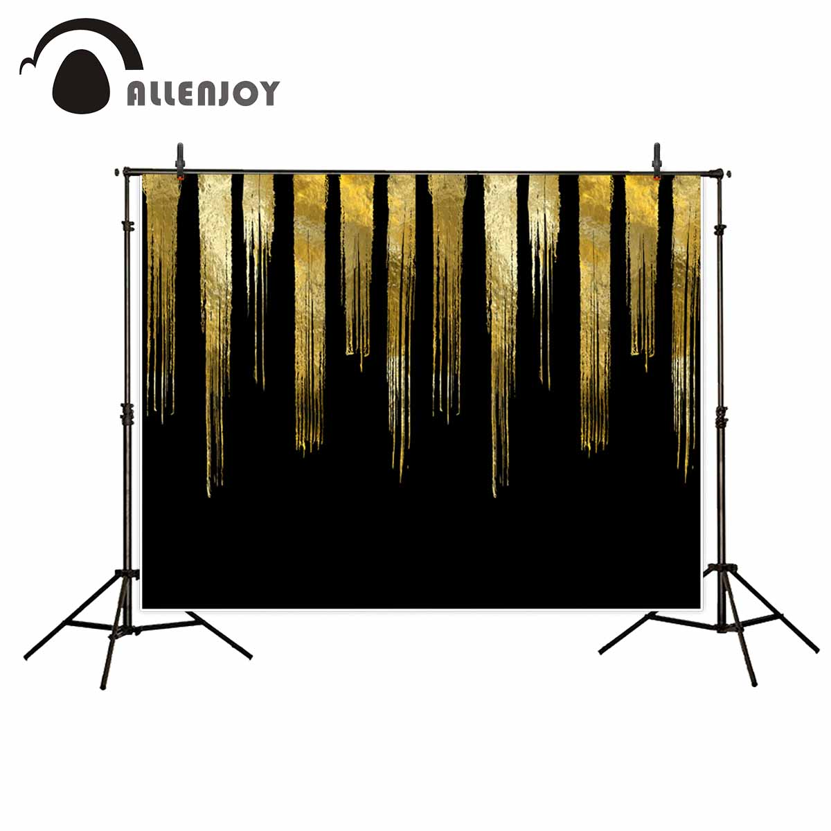 Allenjoy photography backdrops Golden black abstract background gorgeous for a photo shoot fund background vinyl