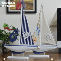 2016 New Arrival Model Ship Wood Sailing Ship Nautical Home Decoration Handmade Tall Boat Gifts Crafts