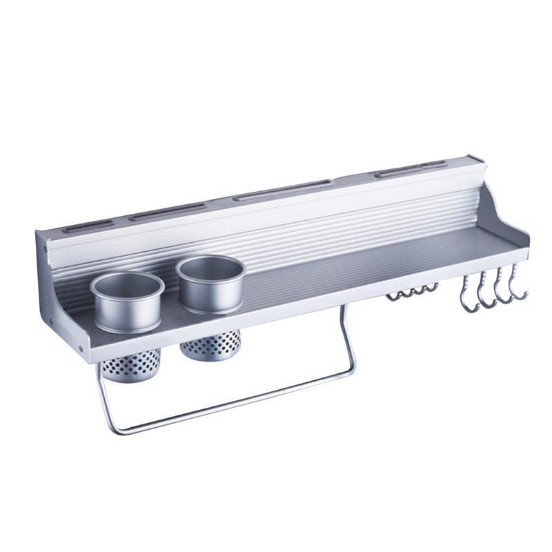 Permalink to Wall-Mount Spice Racks Aluminum Kitchen Rack Utensil Pot Pan Hanger Hook Pot Organizer Storage Rack Kitchen Gadgets
