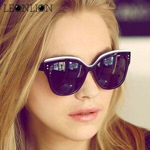 LeonLion 2020 Plastic Top Brand Designer Sunglasses Women Luxury Cat Eye Candies Lens Lady Sun Glasses Classic Vintage Goggle