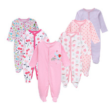 6Pcs Newborn Baby Girl Romper Winter Baby Boy Jumpsuit 100% Cotton Underwear Clothing Baby Rompers Warm Costume Clothes fashion baby boys romper rainbow baby clothes long sleeve cotton warm baby girl romper newborn winter clothes baby boy jumpsuit