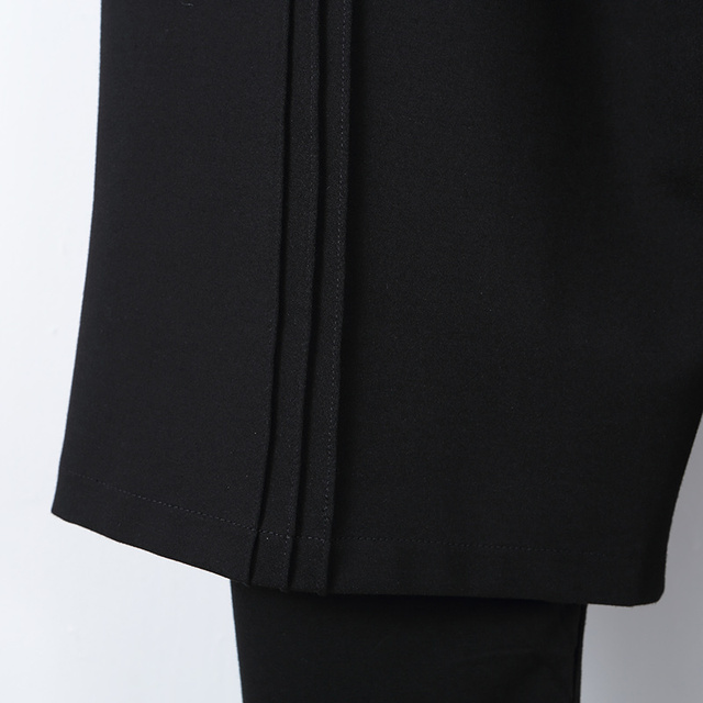 S-6XL!!Spring and summer  is original and loose male false two restore ancient ways waist fasten to take wide leg trousers 4