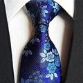 Mantieqingway Марка Галстуки для Мужчин Голубой Цветок Шеи Галстуки Полиэстер Цветочный Галстук Gravata для Свадьбы Мужские Классические Галстуки для Мужчин