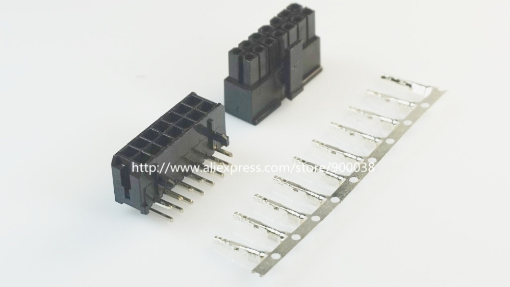 50 sets Micro Fit connector 3 0mm 2x7 Pin 14 P Wafer right angle Plus Receptacle