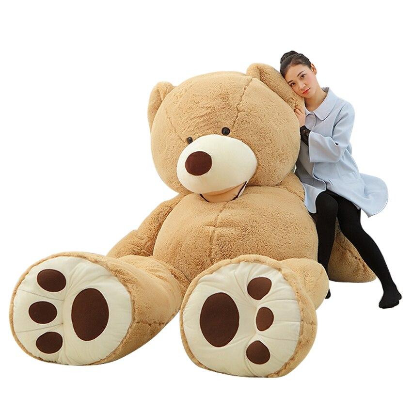 1pc Big Size 200cm American Giant Bear Skin Soft Animal Teddy Bear Coat Good Quality Plush