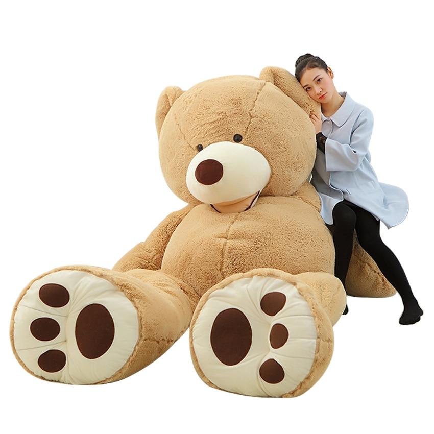 1 pc Grande Taille 200 cm Géant Américain Ours Peau Doux Animal En Peluche ours Manteau Bonne Qualité En Peluche Jouets pour les Filles Valentine Cadeau Poupée